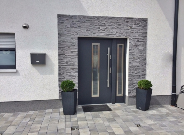 Beautiful and solid exterior doors.