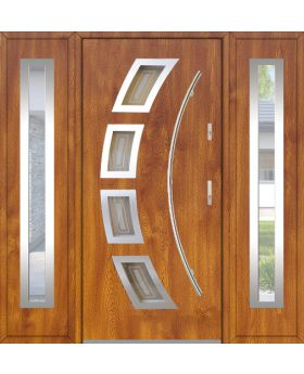 Fargo 21A T - exterior front entry door with 2 side panels