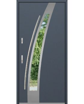 Fargo 36 - modern stainless steel front door