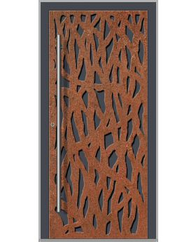 LIM Corrode  - Aluminum front door with corroded corten steel