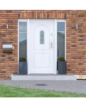 Fargo 3 - contemporary front door Colour: White; Glass type: 5 - double cube
