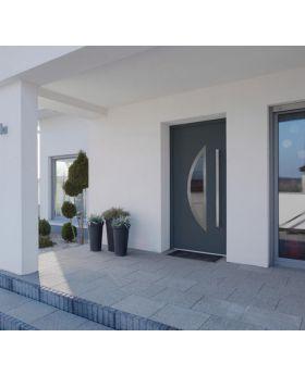 Fargo 22 - contemporary front door Colour: smooth anthracite; Glass type: reflex