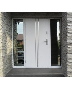Fargo 32 - hurricane proof steel solid front door, Colour: White