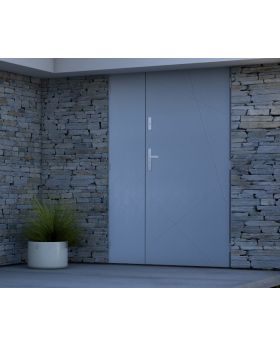 Sta Diego Duo - entrance door with side panel Colour: light anthracite