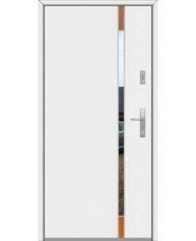 Fargo Fi04B - future inox - silver front door