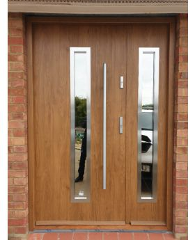 Sta Magellan Duo - exterior door with side panel Colour: winchester